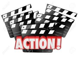 action word on movie clapper boards to illustrate directing action word on movie clapper boards to illustrate directing acting producing or making a