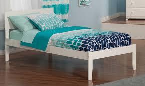 atlantic furniture orlando twin xl open foot platform bed in white atlantic furniture orleans transitional twin open foot