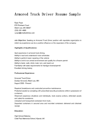 armored truck driver resume sample resume objectives eager annamua