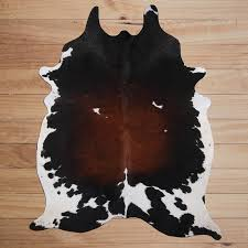 Deerlux <b>Genuine Leather</b> Cowhide <b>Rug</b> in the <b>Rugs</b> department at ...
