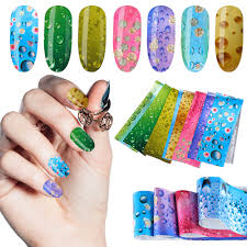 <b>16pcs Nail Foil Set Water Drop</b> Summer Design Transfer Sticker Nail ...