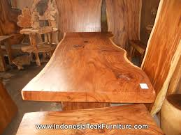 long wood dining table:  itfdt  large wood table bali b
