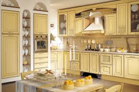 painted kitchen cabinets vintage cream: image of pictures of painted kitchen cabinets ideas