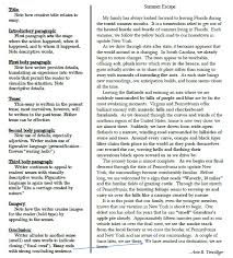 descriptive essay thesis