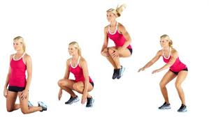 Image result for woman squat jump workout