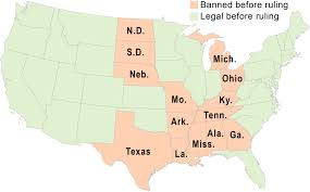 supreme court strikes down state bans on gay marriage syracuse com same sex marriage map