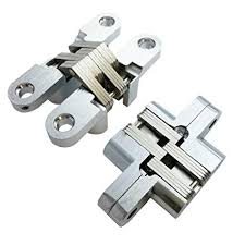 1pcs invisible concealed cross door hinge 34x140mm stainless steel hidden bearing 60kg for folding k101 2