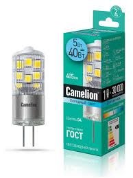 Светодиодная <b>лампочка</b> LED 5W 4500К <b>G4 Camelion</b> 9869127 в ...
