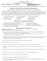 logistics technician resume warehouse resume sample