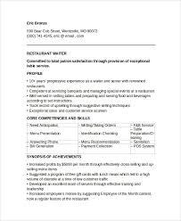 sample waiter resume     documents in pdf  wordrestaurant waiter resume