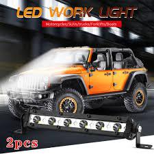 1pc/2pcs <b>12V</b> 24V 18W <b>7 Inch</b> 6LED Flood Work Light Bar Lamp ...