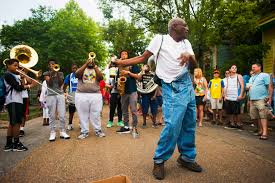 elise derwin photographer darwin performance frontier photo essay a man dances to new life brass band playing on mystery street