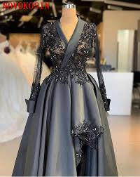 Jumpsuit Evening Dress 2019 Silver Chiffon <b>Lace Appliques Long</b> ...