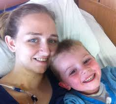 Charlene Johnstone with her son Hayden in hospital. She was so ill she couldn't even lift her boy, her weight plummeted to 5st and she spent seven months in ... - Charlene%2520Johnstone%2520with%2520her%2520son%2520Hayden%2520in%2520hospital