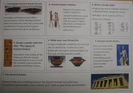 Ladbrooke JMI School   Ancient Greece Challenge Homework Ladbrooke JMI School