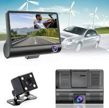 4 Inch 1080P HD <b>3 Lens Car</b> DVR Dash Cam G-sensor Recorder ...