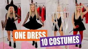 10 <b>Black</b> Dress <b>Halloween Costume</b> Ideas - YouTube