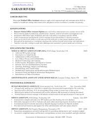 career objective for healthcare resume examples   rgea    cover letter  sample resume for medical office assistant with education and training  career objective