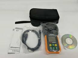 USB <b>MS6252B Anemometer</b> T RH Sensor Air Wind Speed Tester ...