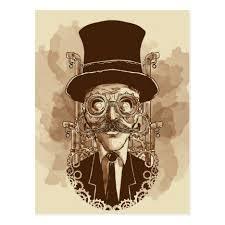 <b>Steampunk</b> Man <b>Hand Painted Vintage</b> Art Postcard | Zazzle.com in ...