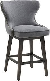 Sunpan Modern 101153 5West Counter <b>Stools</b>, <b>Dark Grey Fabric</b> ...