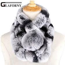 Online Shop Glaforny <b>2018 New winter</b> beaver rabbit wool scarf ...