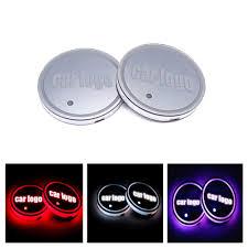 Coasters Colorful <b>LED Car</b> Cup Holder Mat <b>Atmosphere</b> Lights <b>Bar</b> ...
