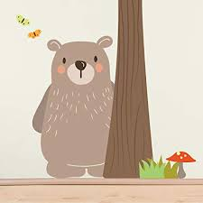 Woodland <b>Bear Wall Sticker</b> for Baby's Nursery, Child's Bedroom or ...