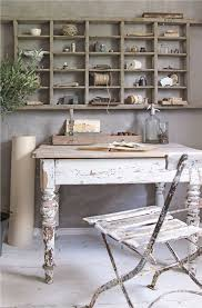 this is also a shabby chic inspired space you can tell by how all of the white antique wood is distressed chic shabby french style distressed