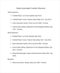 Sales Associate Cashier Resume Template net