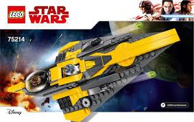 <b>LEGO 75214</b> Anakin's Jedi Starfighter Instructions, <b>Star Wars</b>