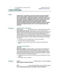 Sample Resume For Teaching Position  cover letter sample cover     happytom co