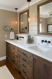 change the faucets cabinet hardware towel bars and light fixture and replace an bathroom vanity milk glass tube pendant