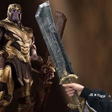<b>Thanos Double edged</b> Sword <b>Avengers Endgame</b> Cosplay Weapon ...