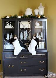 ideas china hutch decor pinterest: christmas china cabinet decor part of the holiday home tour at madiganmadecom