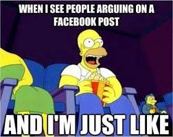 When I see people arguing on a facebook post - meme | Funny Dirty ... via Relatably.com