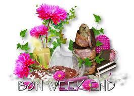 """Résultat de recherche d'images pour """"bon week end avec petites fleurs rose"""""""