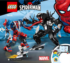 <b>LEGO 76115</b> Spider Mech vs. Venom Instructions, <b>Marvel Super</b> ...