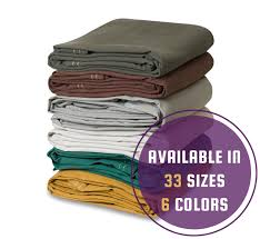 Heavy Duty Canvas Tarps - <b>16oz</b> - <b>100</b>% <b>Cotton</b> - Multiple <b>Colors</b> ...