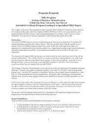revised mba program proposal
