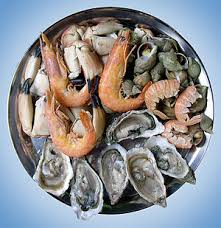 shrimp and oysters