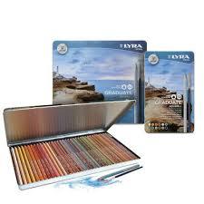 <b>LYRA Graduate Aquarell Watercolour</b> Pencil Tin Sets in 12, <b>24</b> or 36 ...