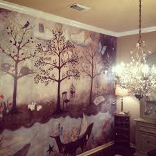 Anthro Enchanted Forest Mural By Rebecca Rebouche Already - Bedroom wall murals ideas