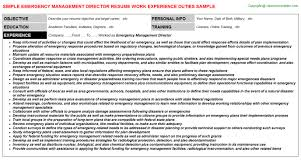 management director resumeemergency management director resume