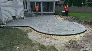 stone patio installation:  stone patios newtown pa patios fire pit install newtown pa fire pit company