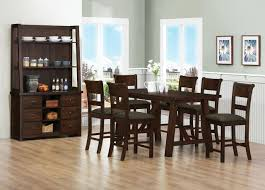 modern wood dining room sets: dark brown dining room furniture sets with buffet storage with green wall paint colors