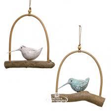 <b>Декоративное украшение</b> для дома Птичка Эйприл 26 см голубая