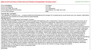 Electronics Engineer Cover Letter Sample