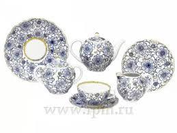 Сервиз чайный Тюльпан <b>Вьюнок</b>, 6 персон 20 предметов, арт ...