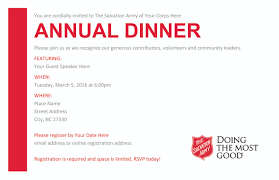 annual dinner resources the salvation army annual dinner resources